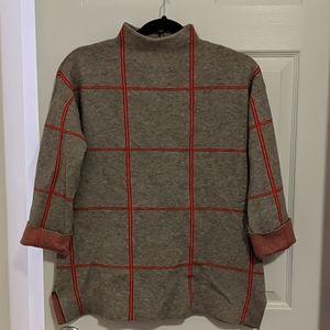 Grey mockneck sweater